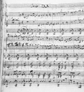 Manuscript of Op.6 No.2 1st page